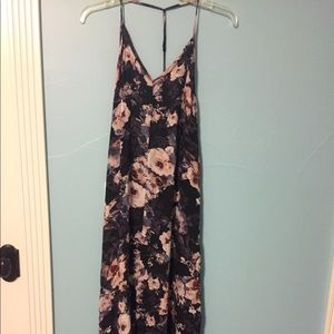 Maxi Floral Dress with Low Back